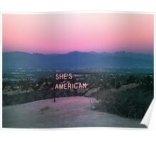 // SHES AMERICAN // Poster