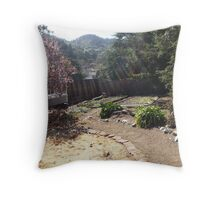 Uncle's Backyard Throw Pillow