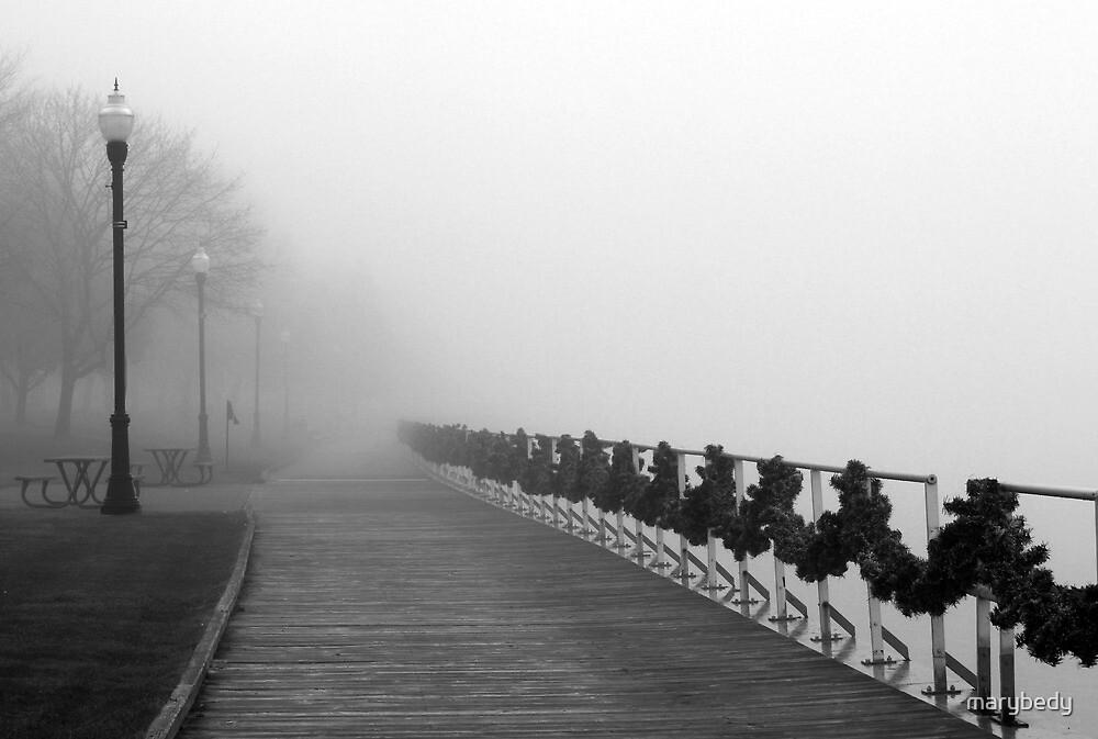 Boardwalk in Fog and Garland by marybedy