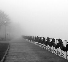 Boardwalk in Fog and Garland by marybedy