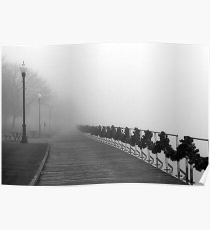Boardwalk in Fog and Garland Poster