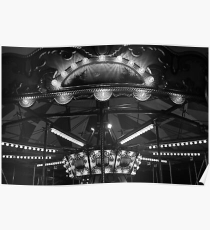 Carousel 3 Black and White Poster