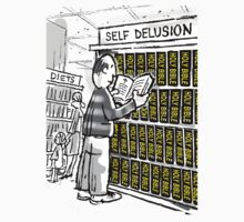 Bible=Self Delusion (Man in Book Store) by atheistcards