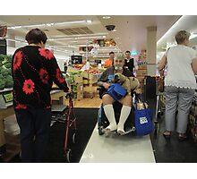 Shopping encounter Photographic Print
