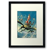 Aerial Trouble Framed Print