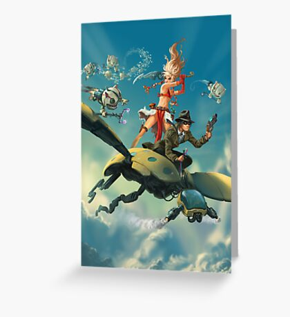 Aerial Trouble Greeting Card