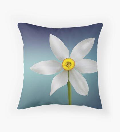 Very Elegant Daffodil Theme Throw Pillow