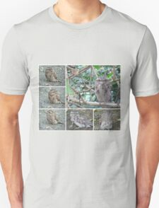 Tawny Frogmouth collage Unisex T-Shirt