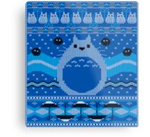 Totoro Knitted Neighbor Metal Print