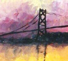 Macdonald Bridge Impressionism Sticker