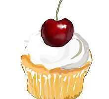 Cupcake With Cherry by kwg2200