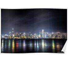 Chicago Skyline - Night Poster
