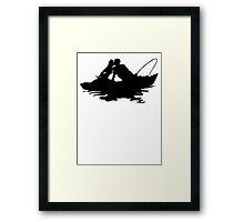 Couple Fishing Framed Print