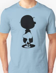 CHARLIE SNOOPY and WOODSTOCK Silhoette T-Shirt