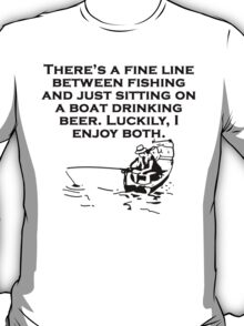 Fishing And Sitting In A Boat T-Shirt