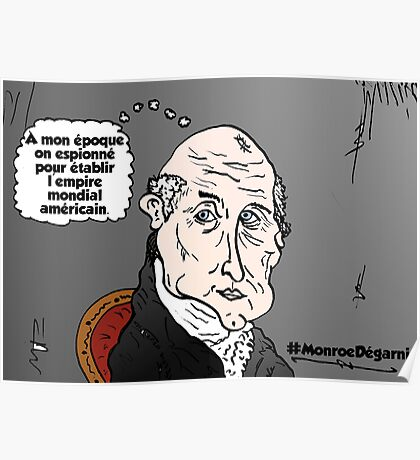 James MONROE chauve webcomic Poster