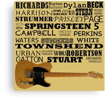 Telecaster Rock & Roll Canvas Print
