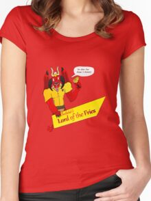 Beelzebub's Lord of the Fries Women's Fitted Scoop T-Shirt