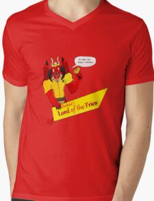 Beelzebub's Lord of the Fries Mens V-Neck T-Shirt