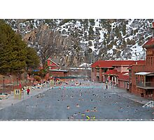 Glenwood Springs Hot Springs in Winter Photographic Print
