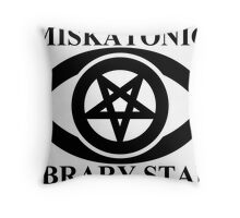 MISKATONIC LIBRARY STAFF Throw Pillow