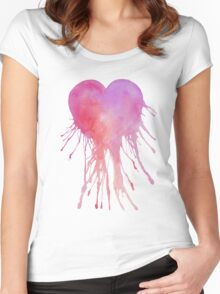 Dripping Heart Women's Fitted Scoop T-Shirt