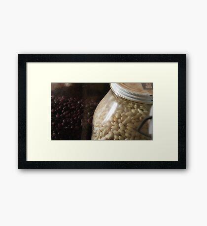 Bottle of Beans Framed Print