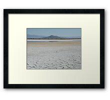 Dry Lake Framed Print