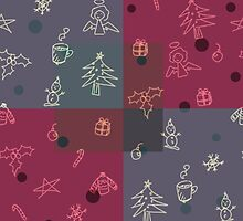 Square christmassy pattern by meoagcat