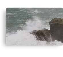 Rough seas in Port Isaac Cornwall Metal Print
