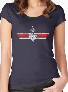 Custom Top Gun Style Style - Tag Women's Fitted Scoop T-Shirt