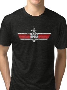 Custom Top Gun Style Style - Tag Tri-blend T-Shirt