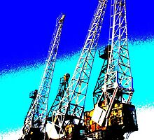 Blue Cranes by Nik Watt