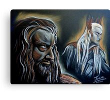 """He never forgave, he never forgot"" Thorin and Thranduil Canvas Print"