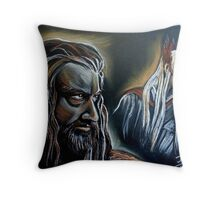 """""""He never forgave, he never forgot"""" Thorin and Thranduil Throw Pillow"""