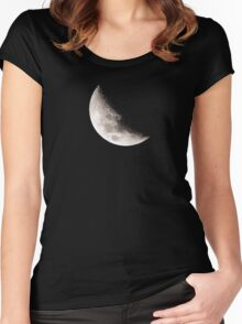 Almost Half Moon 45 Women's Fitted Scoop T-Shirt