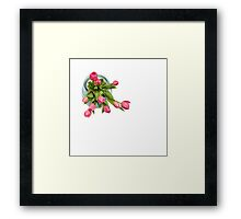 Grateful tulips Framed Print