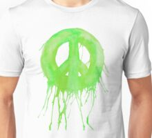 Dripping Peace Sign Unisex T-Shirt