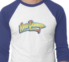 ND 80s Time Traveller (clean) Men's Baseball ¾ T-Shirt