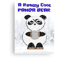 A Really Cool Panda Bear Canvas Print