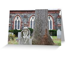 Angel child grave Greeting Card