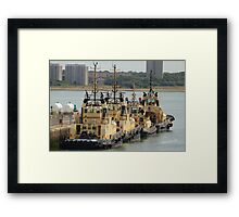 Svitzer Tugs docked in Southampton Framed Print