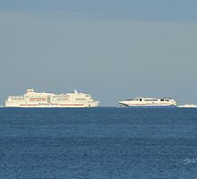 Brittany Ferries Pont Aven & Normandie Express by Jonathan Cox