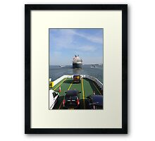 Following Queen Mary 2 Out Framed Print