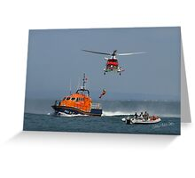 Bembridge Lifeboat & Helicopter Greeting Card