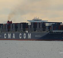 CMA CGM Christophe Colomb by Jonathan Cox