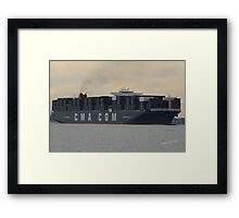 CMA CGM Christophe Colomb Framed Print