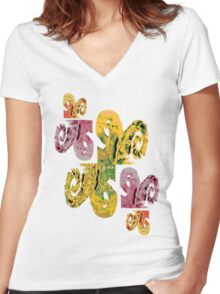 Conch Women's Fitted V-Neck T-Shirt