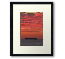 OOCL Container Ship Sunrise Framed Print