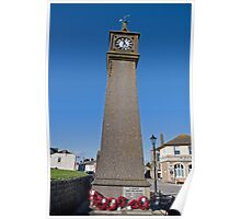 The clock tower in St Just Cornwall Poster